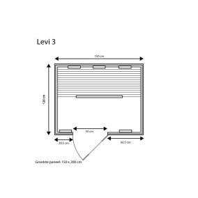 category Fonteyn | Infraroodcabine Levi 3 Exclusive | FS 400028-10